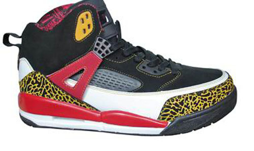 Air Jordan Shoes 3.5 Black Yellow Red