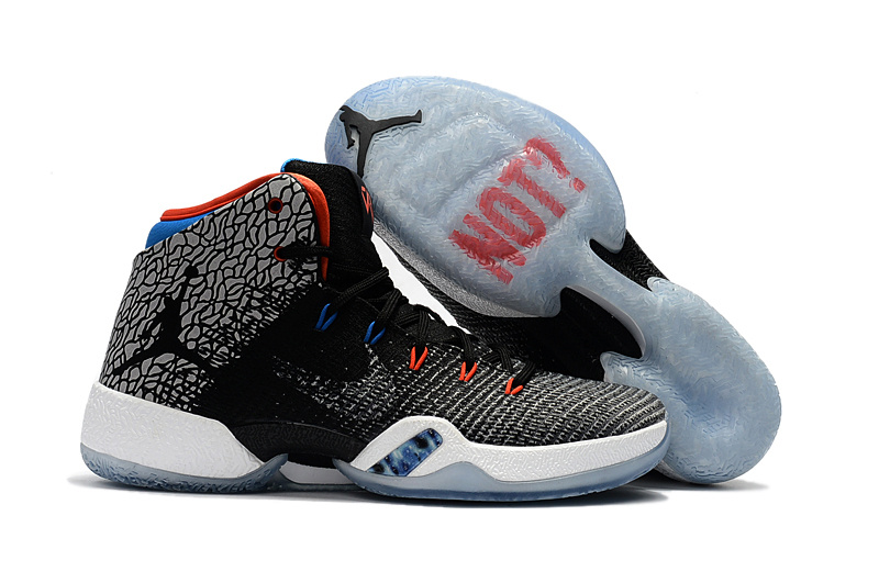 Air Jordan 30.5 West Brook Black Grey Blue Shoes