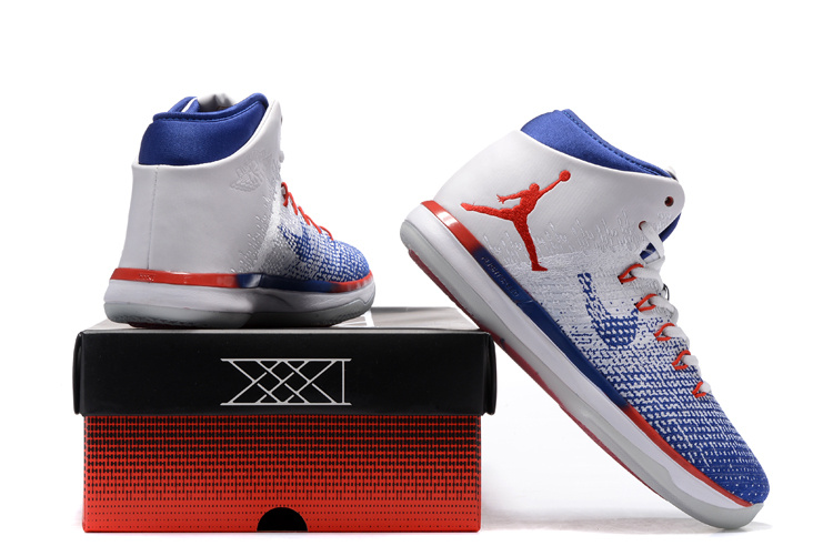 Air Jordan 31 GS USA White Blue Red Shoes