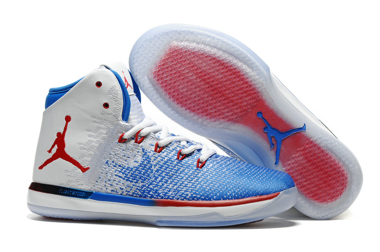Air Jordan 31 White Blue Red Shoes