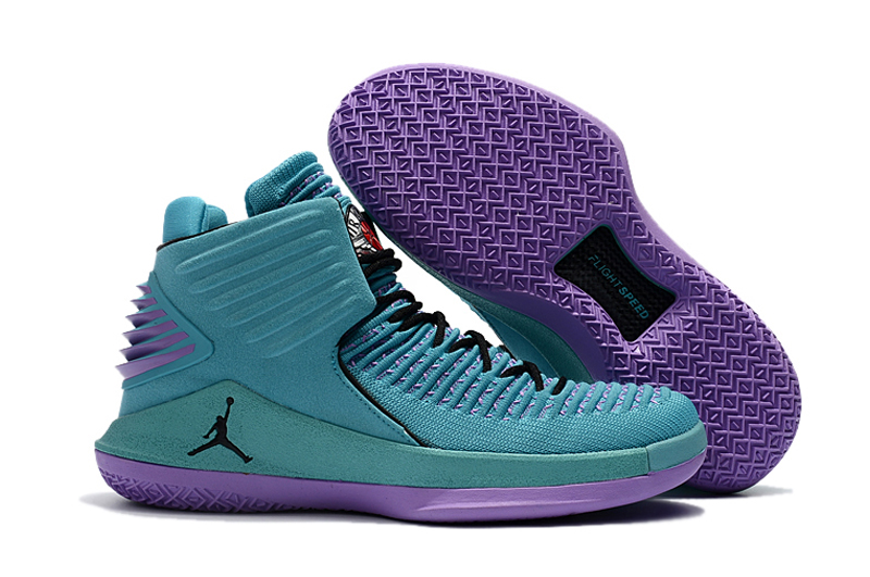 Air Jordan 32 Blue Purple Black Shoes