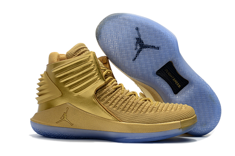 Air Jordan 32 Gold Ice Sole Shoes