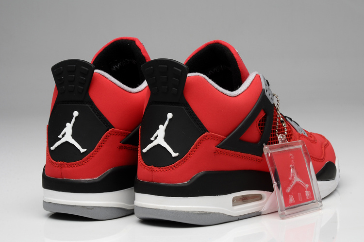 check out f5b3e c8779 Air Jordan 4 Bulls Colors Red White Black Shoes