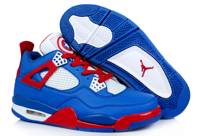 online store 449ba 7a116 New Arrival Jordan 4 Captain America Edition Blue White Red ...