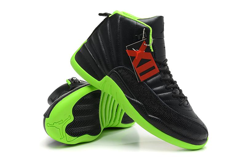 6f334c7a2db 2013 Jordan 12 Hardback Black Green Shoes Real 2013 Jordan 4 ...