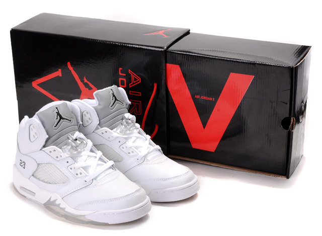 Air Jordan 5 Hardcover Box All White