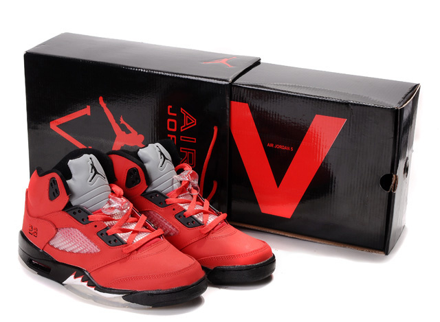Air Jordan 5 Hardcover Box Red Black White