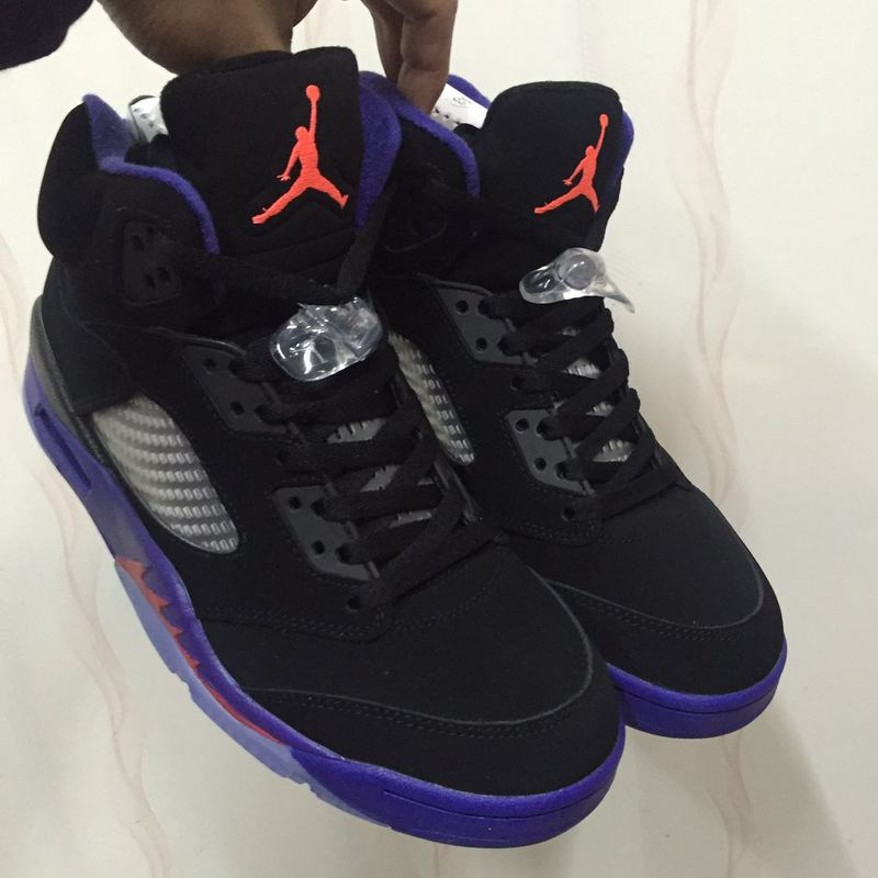 Air Jordan 5 Retro Raptors Black Purple Shoes