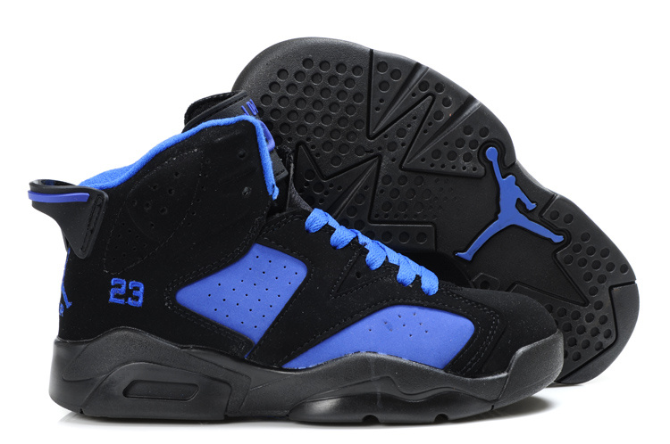 Air Jordan 6 Black Blue For Kids