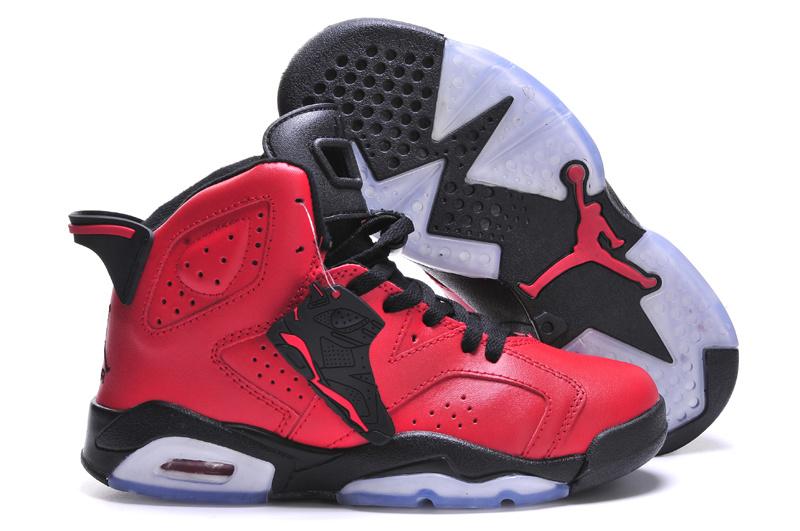 Air Jordan 6 Bulls Red Black For Women