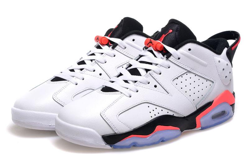 Air Jordan 6 Low Cut White Black Pink