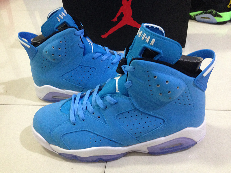 2015 OG Air Jordan 6 Pantone Blue White Shoes