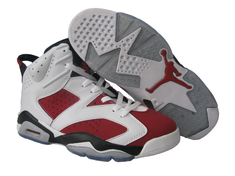 Jordan 6 Retro White Red Black Shoes