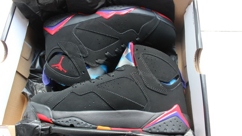 Air Jordan 7 Retro Black Purple Shoes