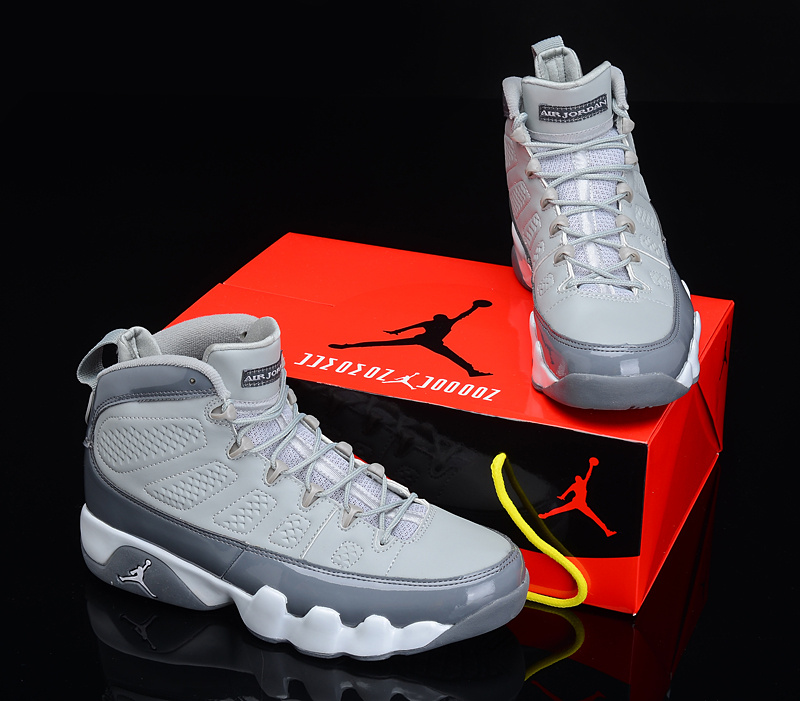 Reissued Air Jordan 9 Grey White Shoes