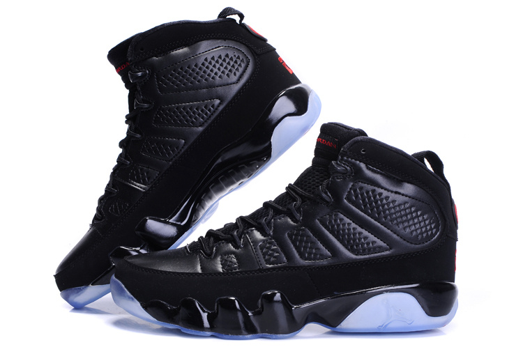 Jordan 9 Retro Transparent Sole All Black