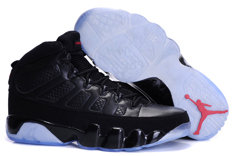 purchase cheap b3c63 10295 ... discount code for jordan 9 retro transparent sole all black 11ca4 7c937