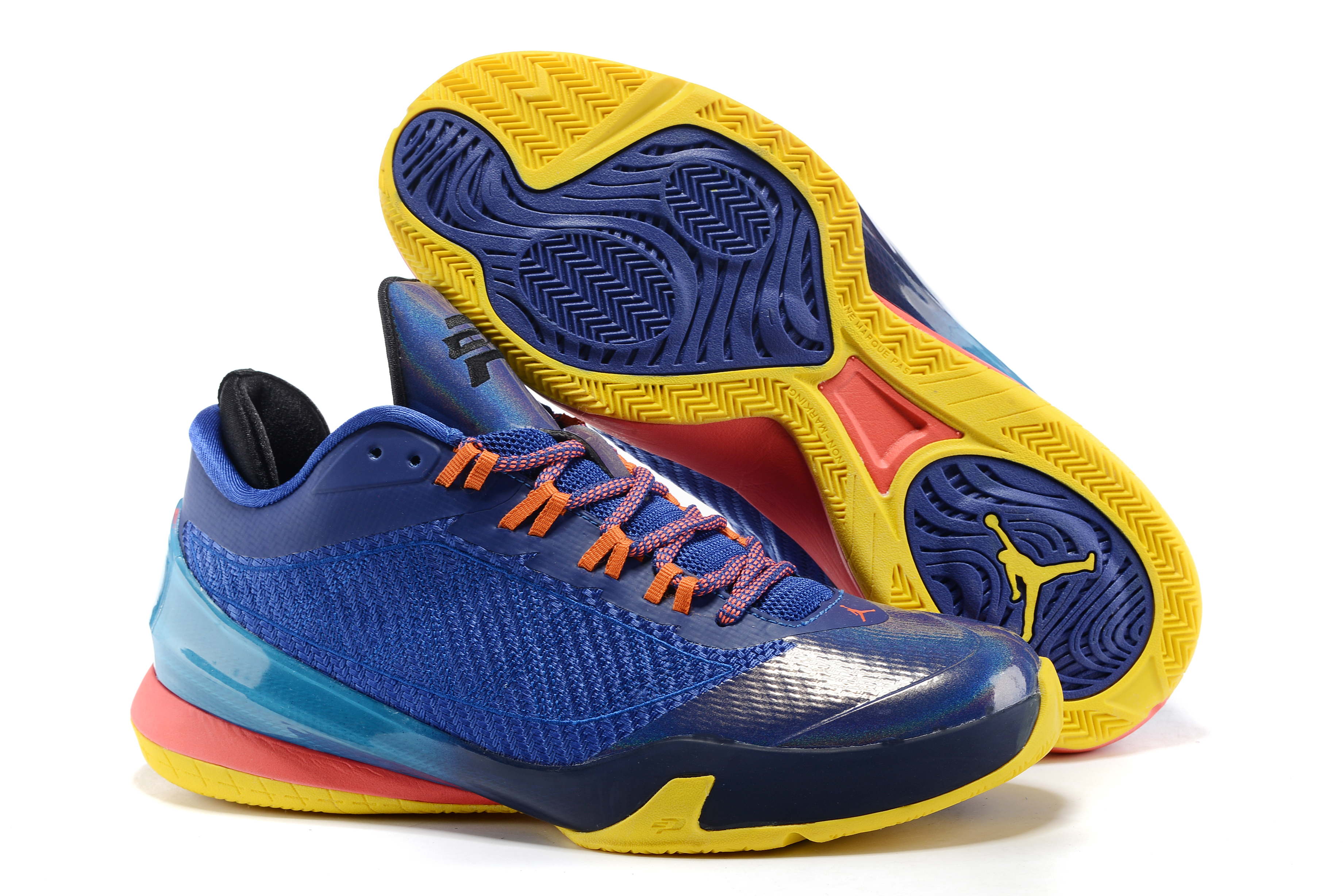 Air Jordan CP3 8 Blue Yellow Red Shoes