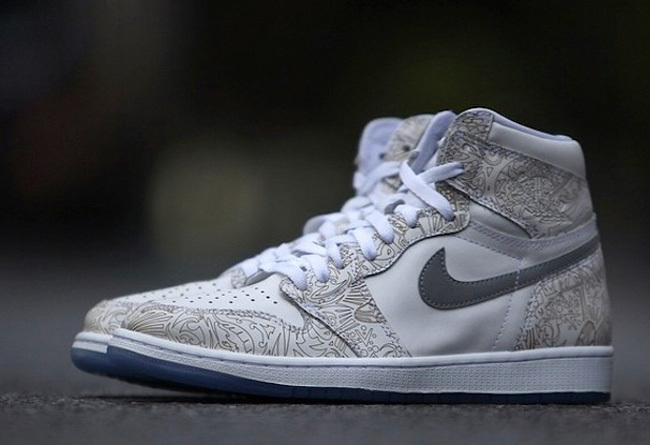 Air Jordan High 1 Carving White Shoes For Lovers