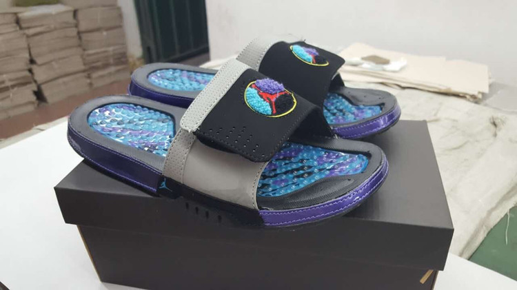Air Jordan Hydro VIII Black Purple Sandal