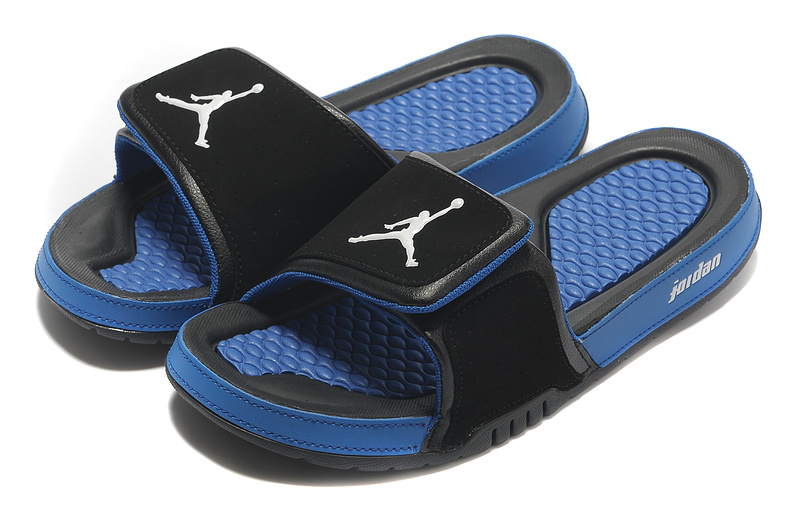 Air Jordan Slipper Black Blue