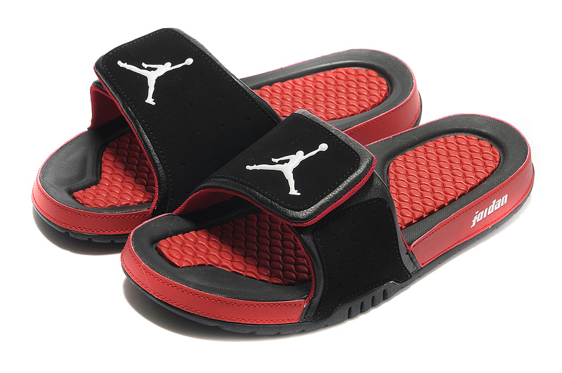Air Jordan Slipper Black Red