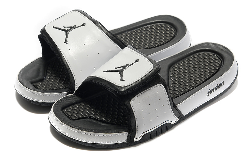 Air Jordan Slipper Grey Black