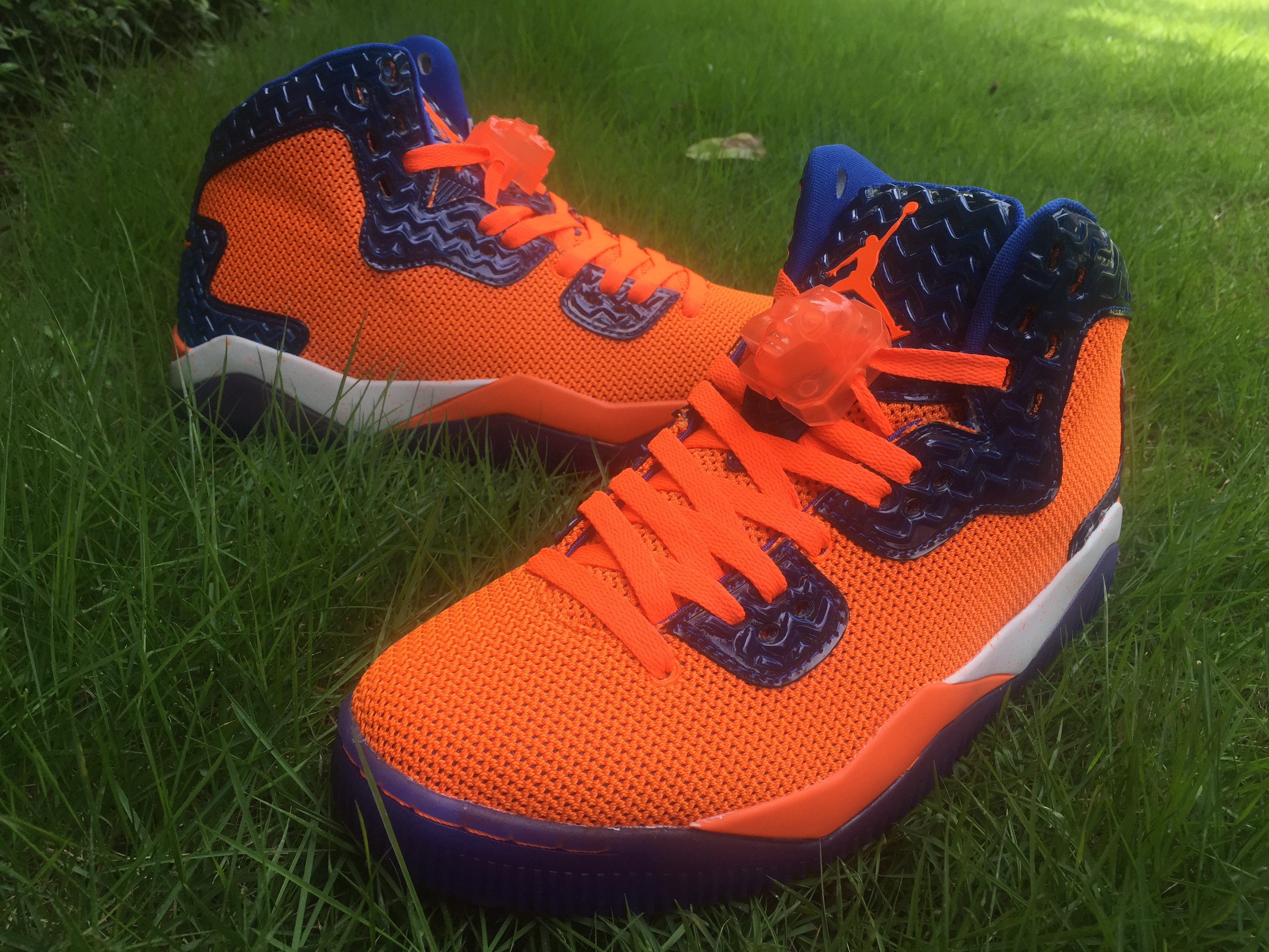 Air Jordan Spizike Orange Dark Blue Shoes