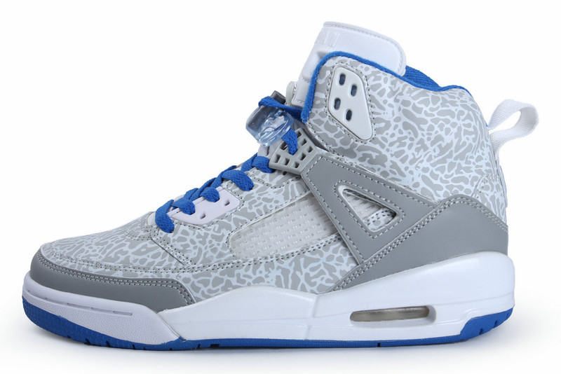 Air Jordan Spizike White Grey Blue Shoes