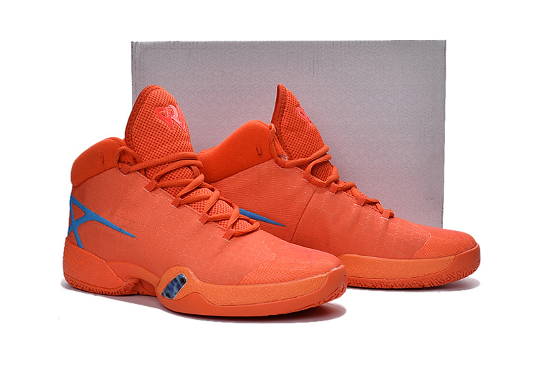 Air Jordan XXX Reddish Orange Blue Shoes