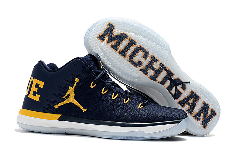 Air Jordan XXXI Low Michigan Black Yellow Shoes