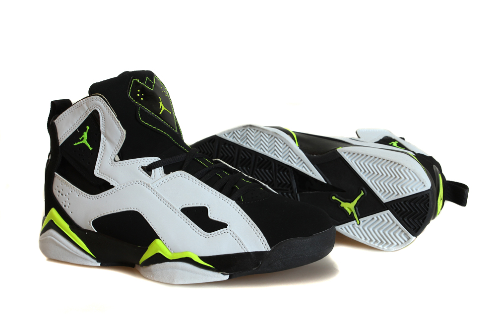 Air True Flight White Black Yellow Basektball Shoes