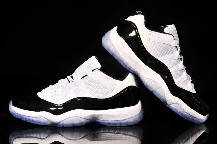 04fbe47bf90 cheapest classic air jordan 11 low reissue concord white black shoes b3a48  979af