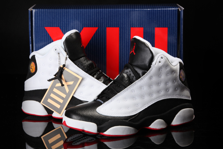 Cool Summer Air Jordan 13 White Black Red Shoes