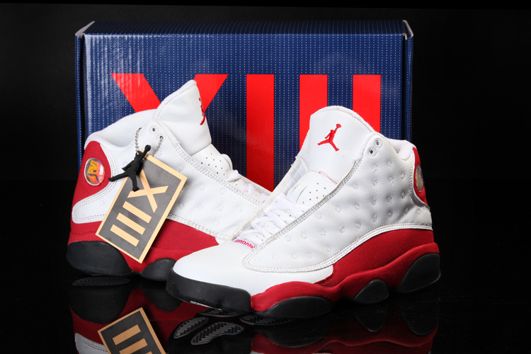 Cool Summer Air Jordan 13 White Red Shoes