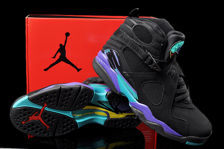 Duplicate Air Jordan 8 Black Green Shoes