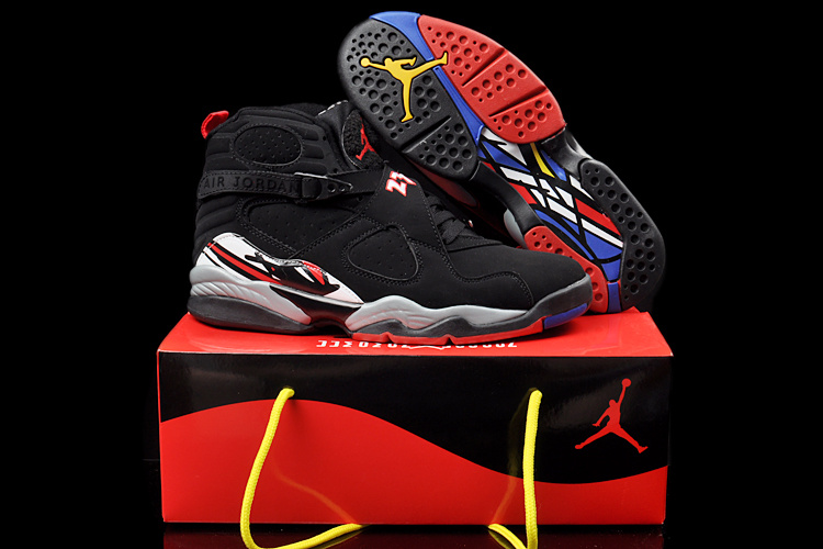 Duplicate Air Jordan 8 Black Grey Red Shoes