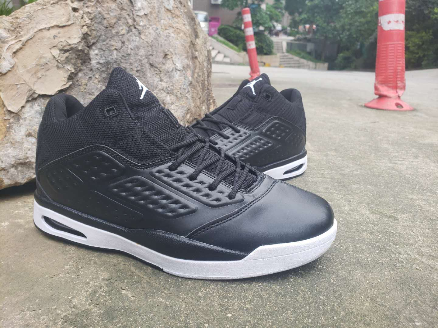 Jordan 2019 New School Black White Shoes