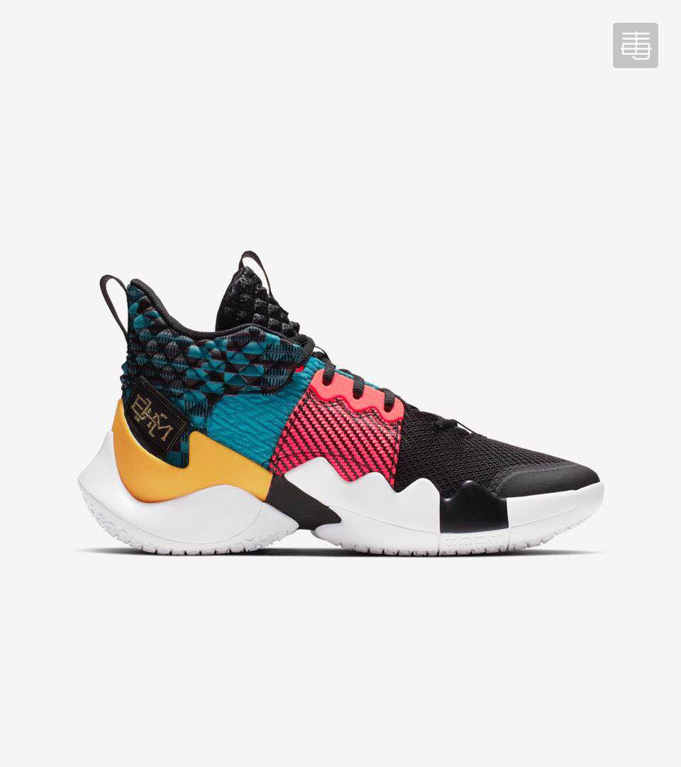 Jordan Why Not Ze0.2 Black Red Blue Yellow Shoes