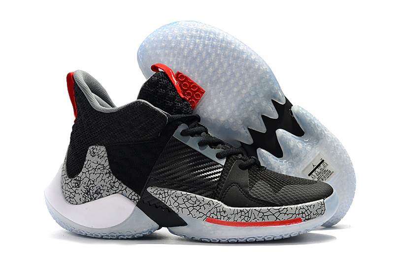 Jordan Why Not Zer0.2 Black Cement Grey Red Shoes