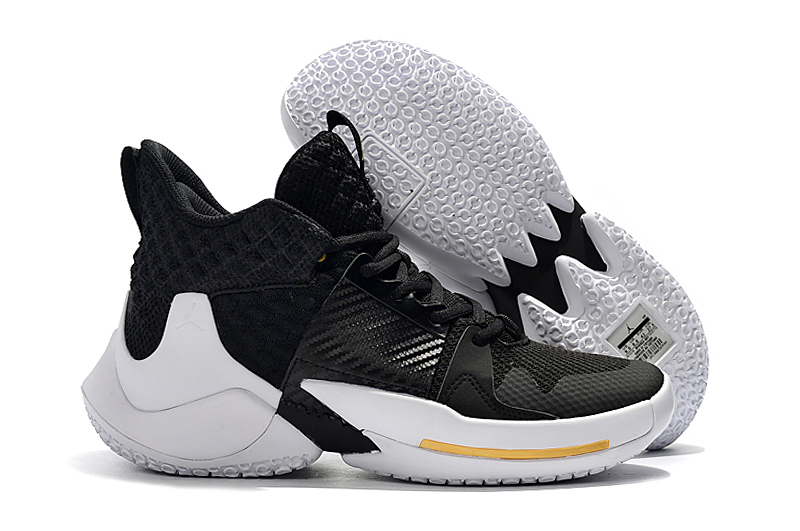 Jordan Why Not Zer0.2 Black White Gold Shoes