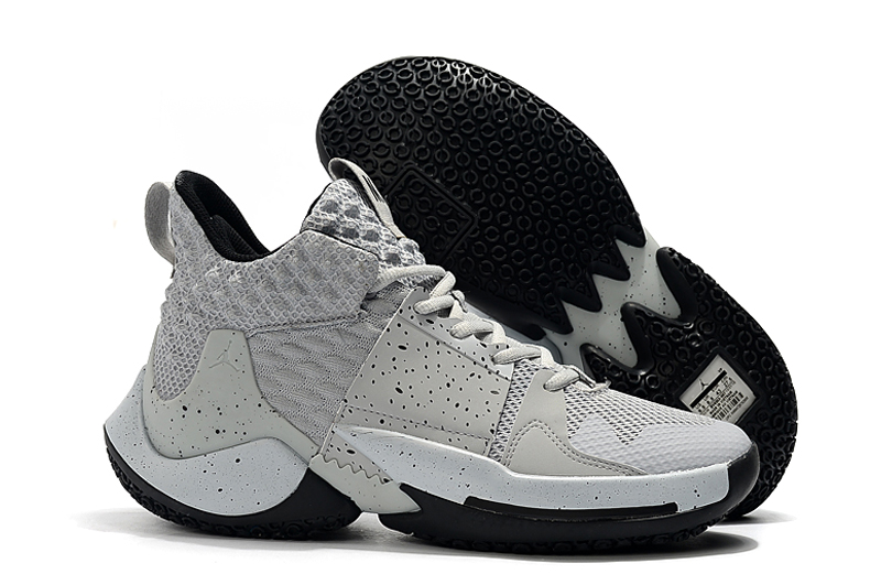 Jordan Why Not Zer0.2 Wolf Grey Black Shoes