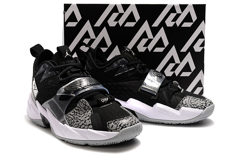 Jordan Why Not Zer0.3 Black Cement Grey White Shoes