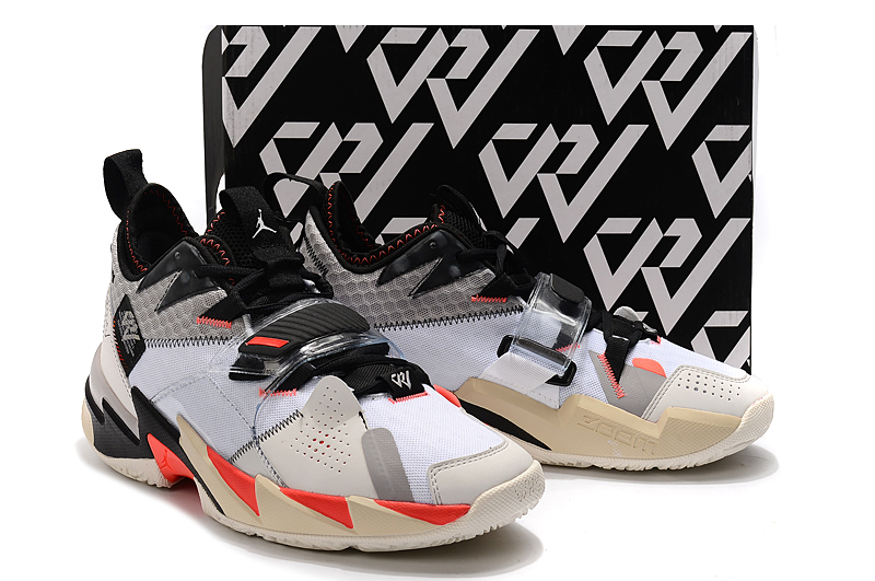 Jordan Why Not Zer0.3 White Black Red Beign Red Shoes