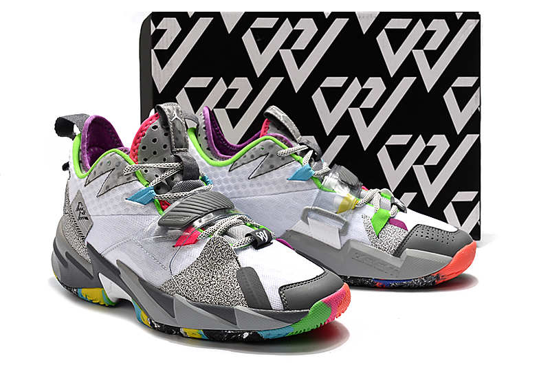 Jordan Why Not Zer0.3 White Grey Colorful Shoes