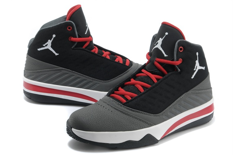 2013 Jordan B`MO Black Grey Red White Shoes