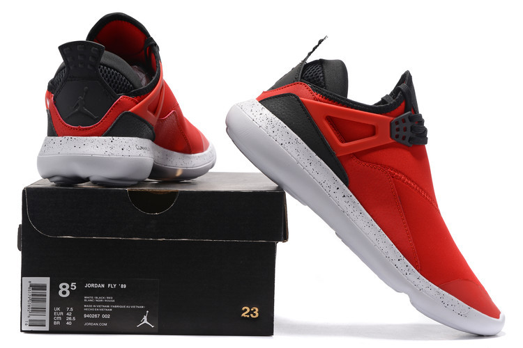 Jordan Fly 89 AJ4 Red Black Running Shoes