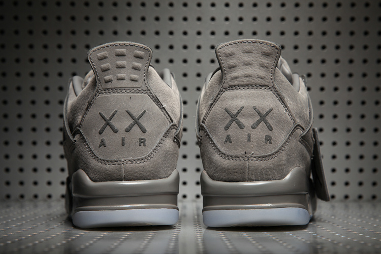 new concept 0a461 f878a KAWS x Air Jordan 4 Grey Suede Shoes [17og33010] - $80.00 ...