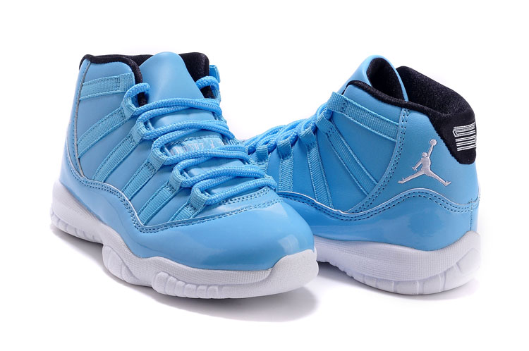 Kids Air Jordan 11 Blue White Shoes