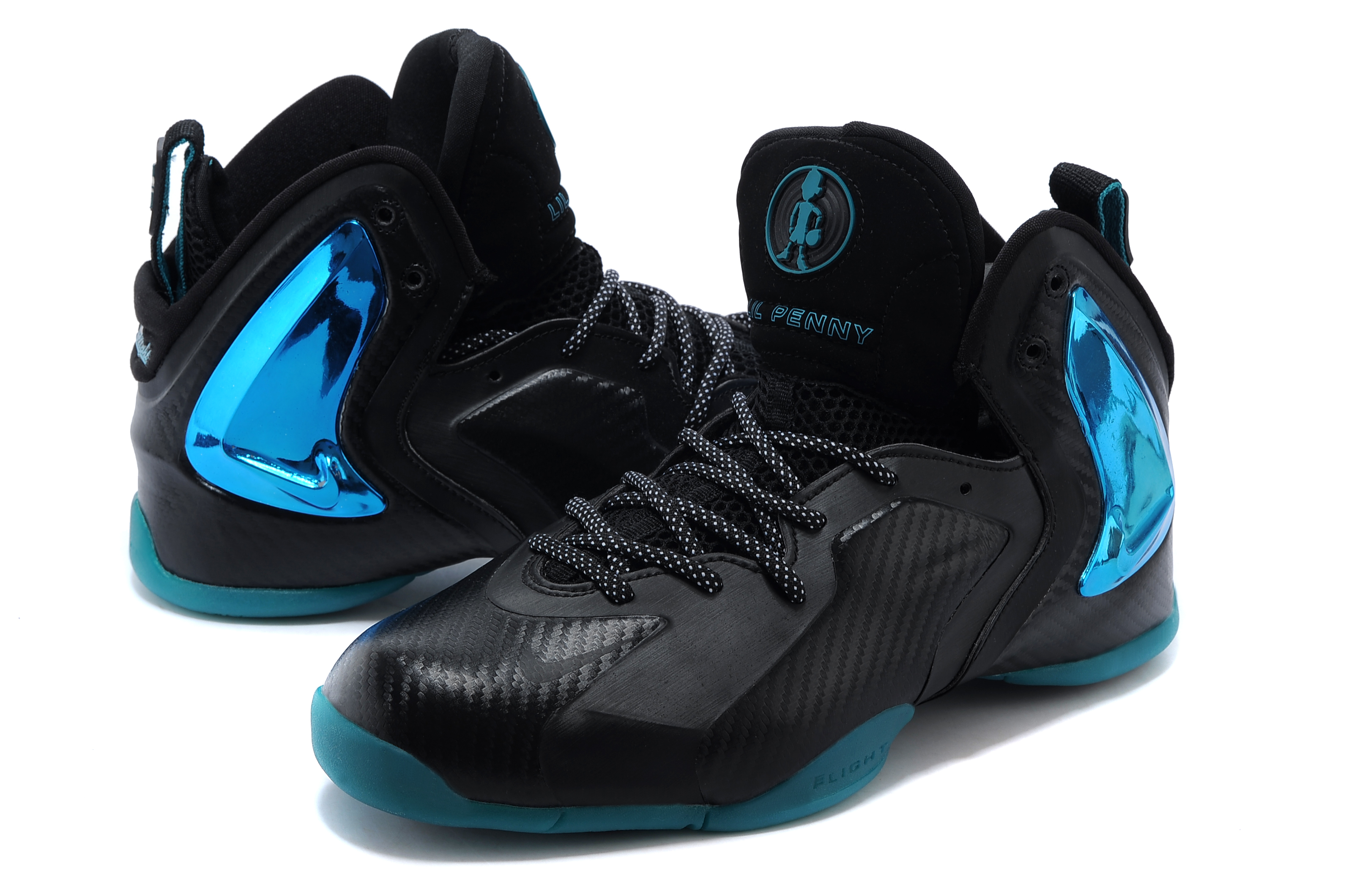 Kids Air Jordan 7 Black Blue Shoes